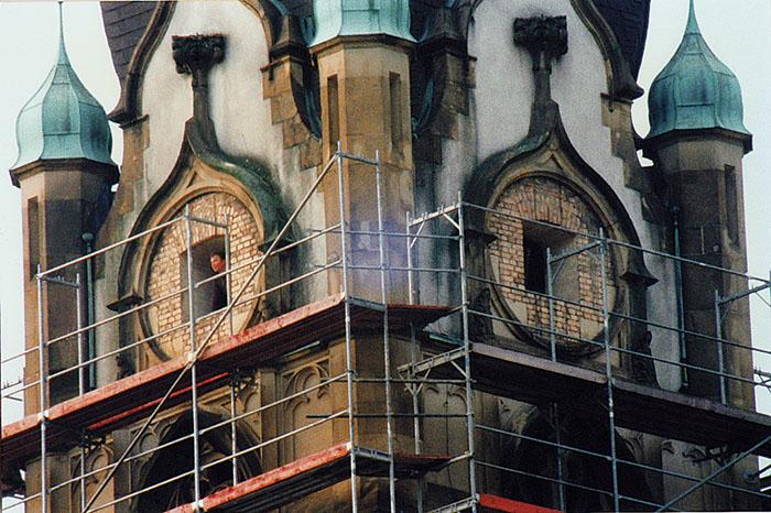 Friedenskirche - Außenrenovierung (Photo: Tiefburgarchiv)