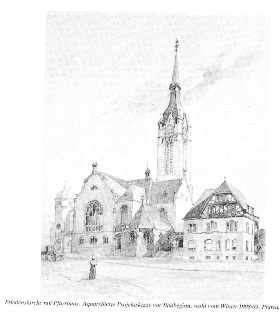 Friedenskirche, Projektskizze, Winter 1908/09 (Photo: Friedensgemeinde)