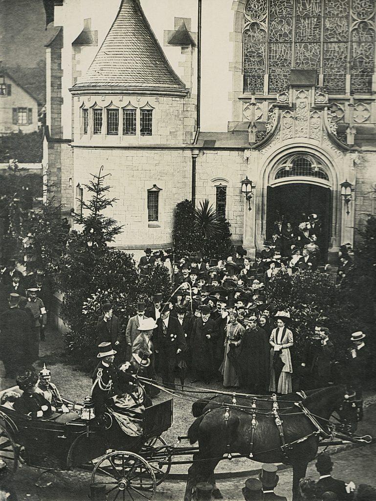 Friedenskirche - Feierliche Einweihung mit badischem Großherzogpaar am 29.06.1910 (Photo: Tiefburgarchiv)