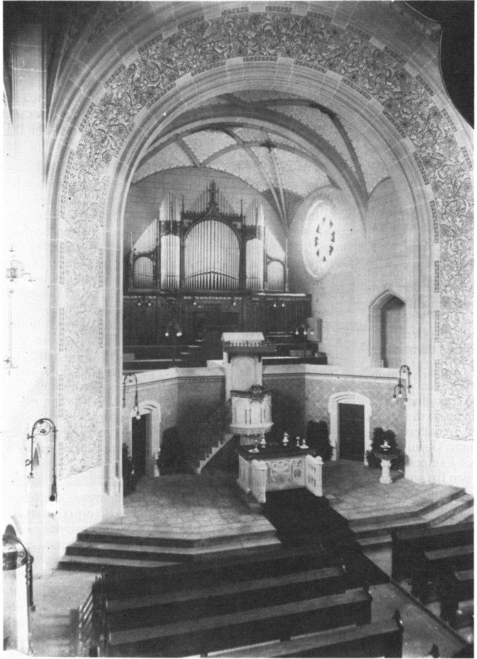 Friedenskirche, Innenraum 1910 (Photo: Friedensgemeinde)