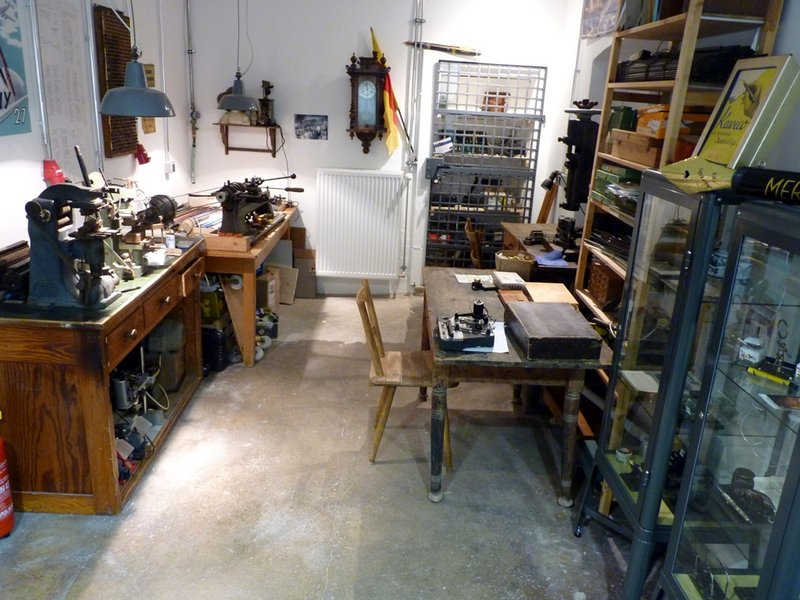 """Workshop"" in the Fountain Pen Museum (photo: Tiefburg archives)"