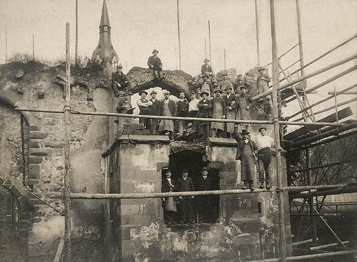 Restaurierungsarbeiten 1911