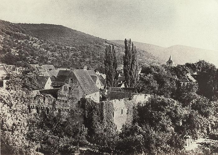 Tiefburg - Ruine 1910 nach den Zerstörungen